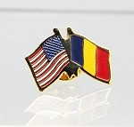US/Romania Friendship Flag Lapel Pin